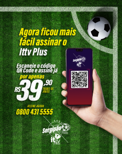 Aplicativo it TV Plus está transmitindo 100% do Campeonato Sergipano!
